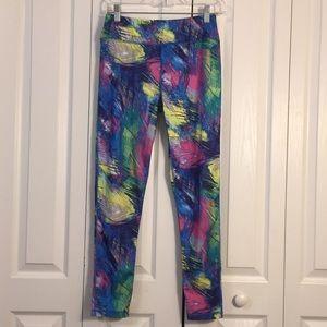Essenza New York neon splash workout pants M
